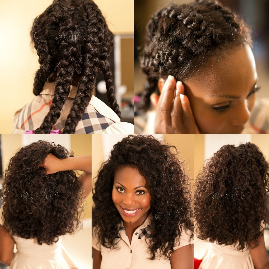 Stupendous How To Do A Braid Out With Extensions Braids Short Hairstyles For Black Women Fulllsitofus
