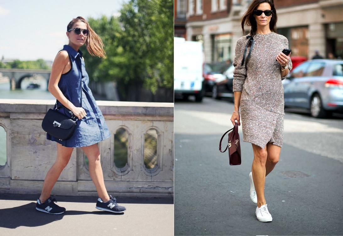 sneakers-with-dress-2016-fashion-trend