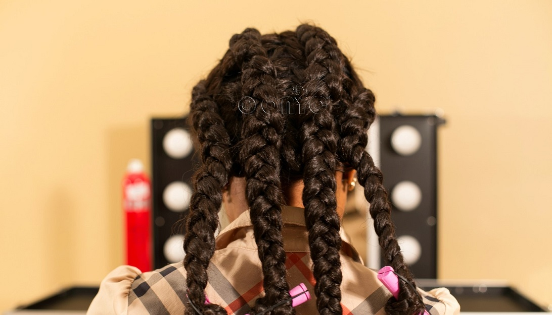 Jumbo braids for braid out style on weave ONYC Hair_watermarked