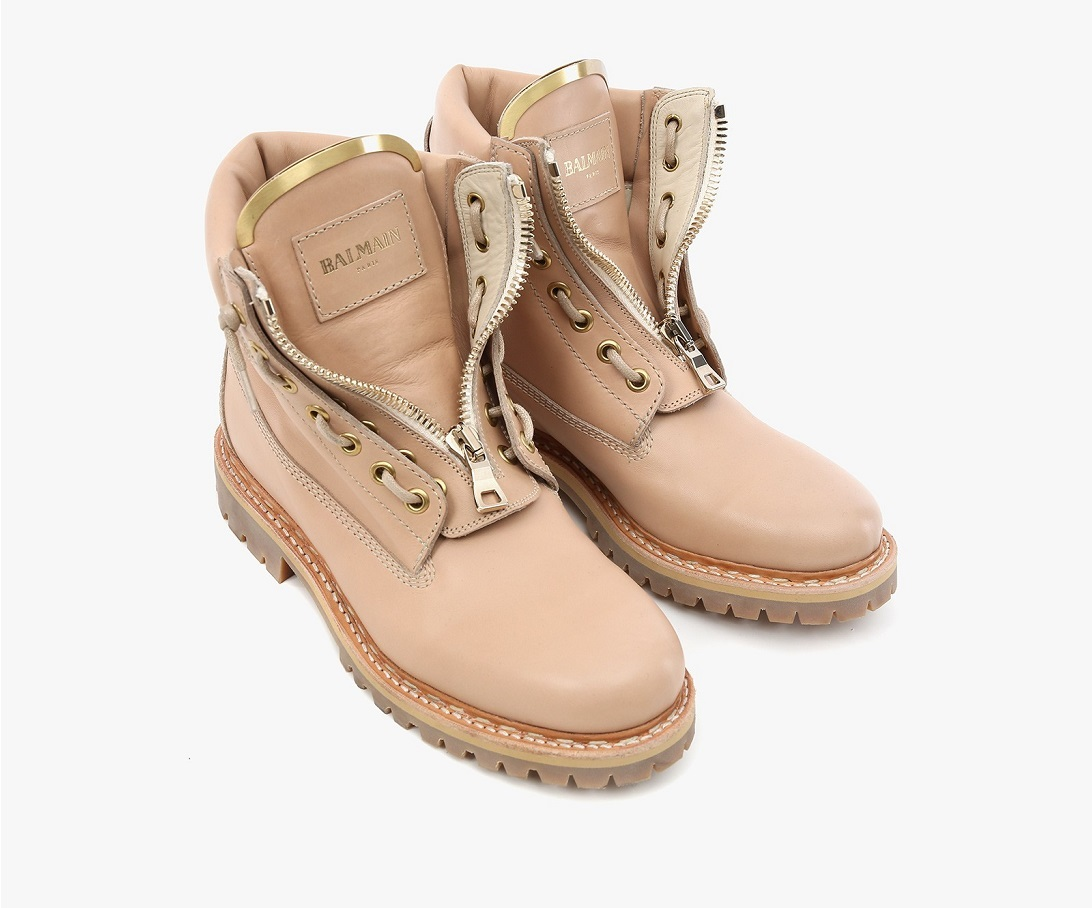 balmain nude taiga leather boots (1)