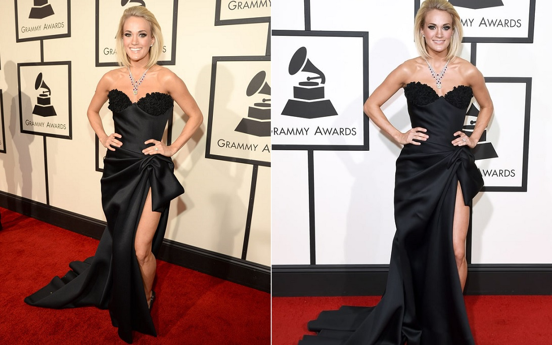 carrie-underwood-black-gown-best-dressed-celebrities-at-grammy-2016