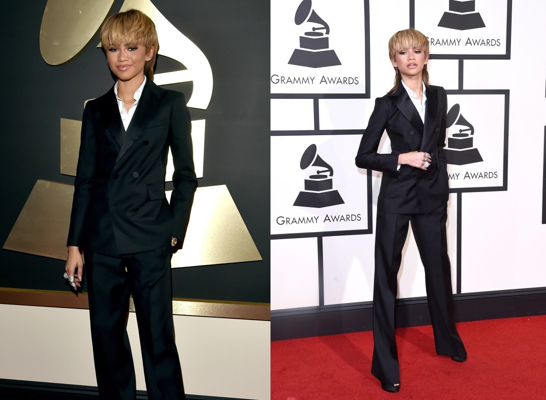 zendaya-black-suit-best-dressed-celebrities-at-grammy-2016