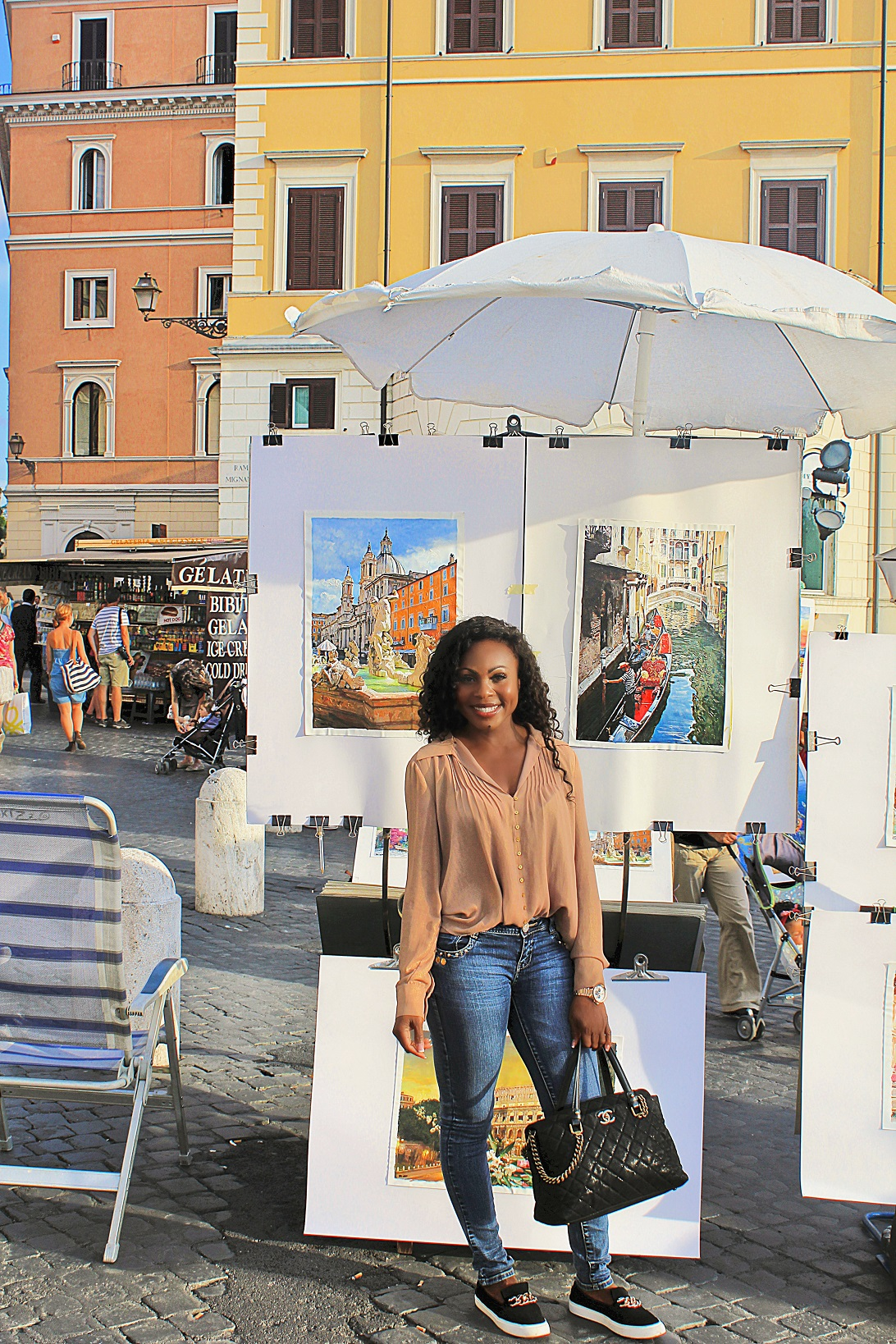 Beautiful day in Rome by the Spanish Step