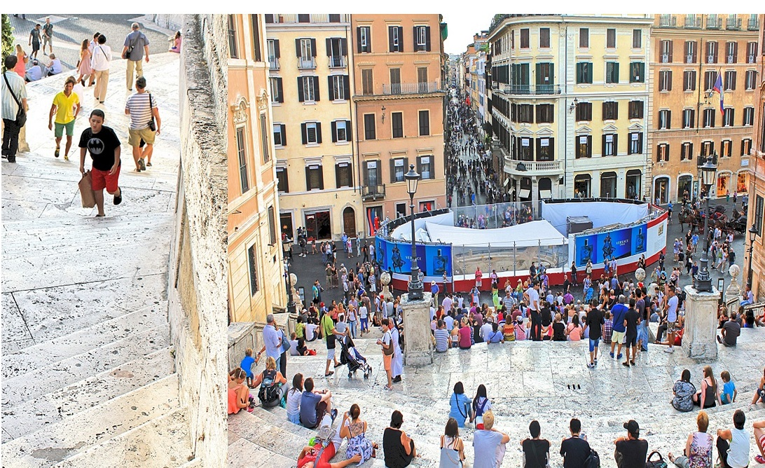 Climb up and View from the Spanish Steps