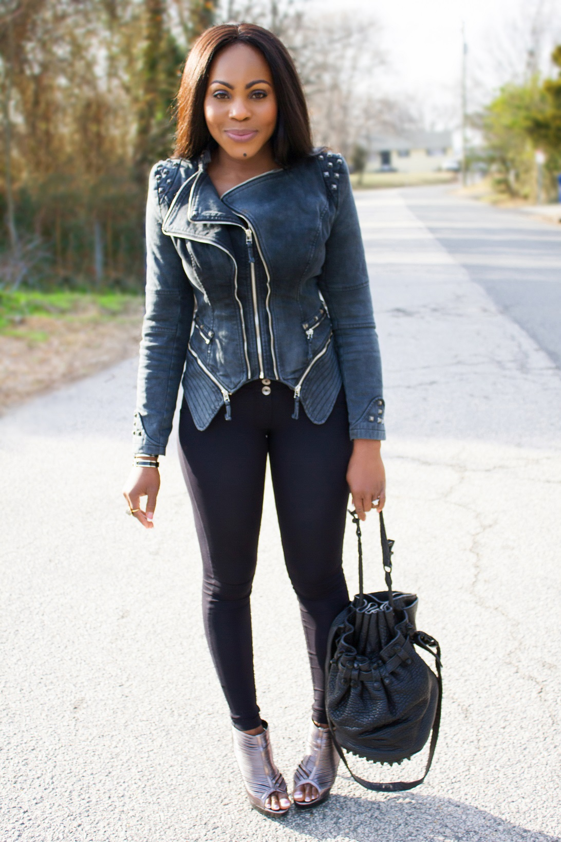 how to make a jean jacket more fitted
