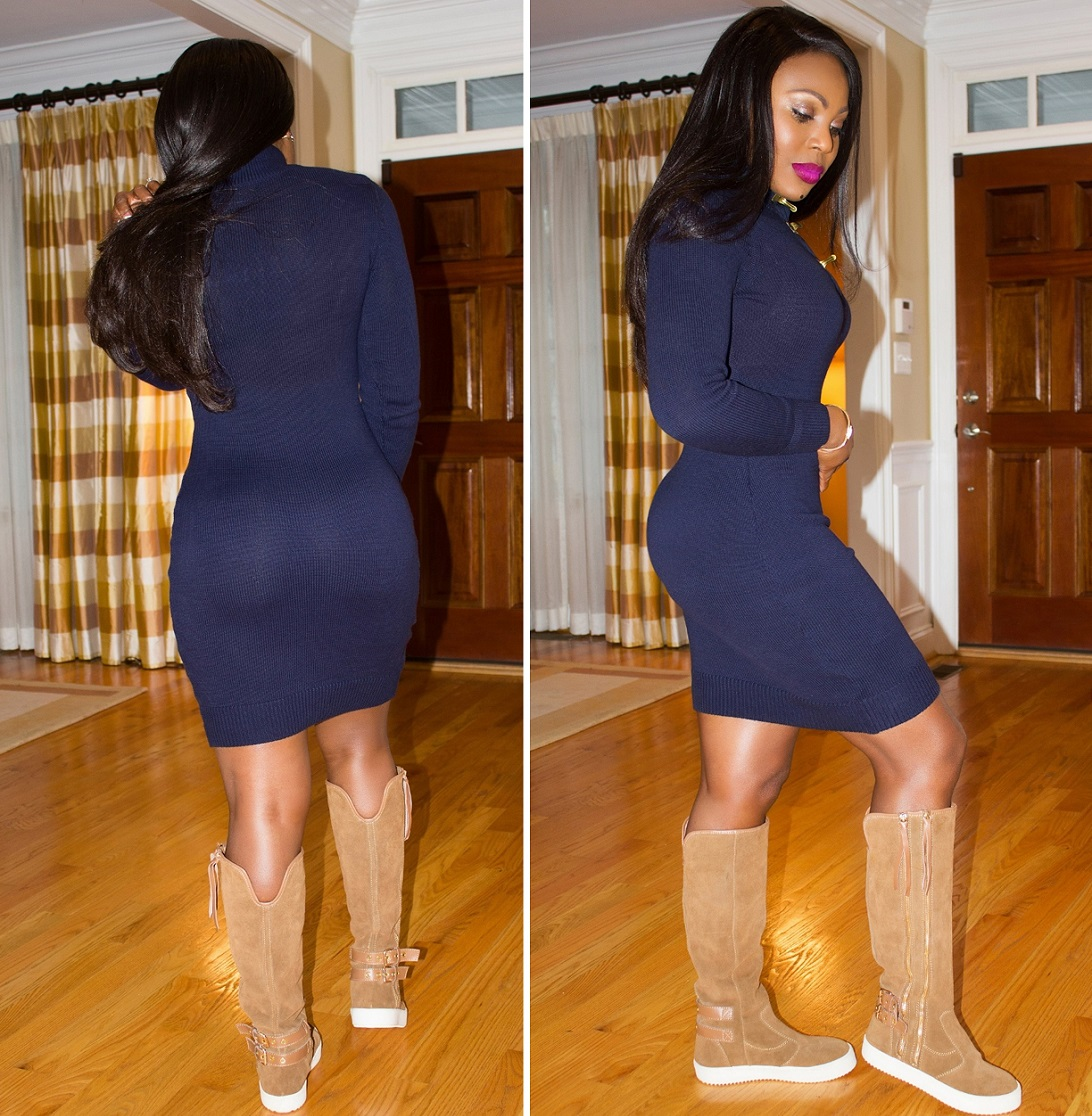 What I am wearing Faces Of Ony Michael Kors sweater dress Giuseppe Zanotti boots