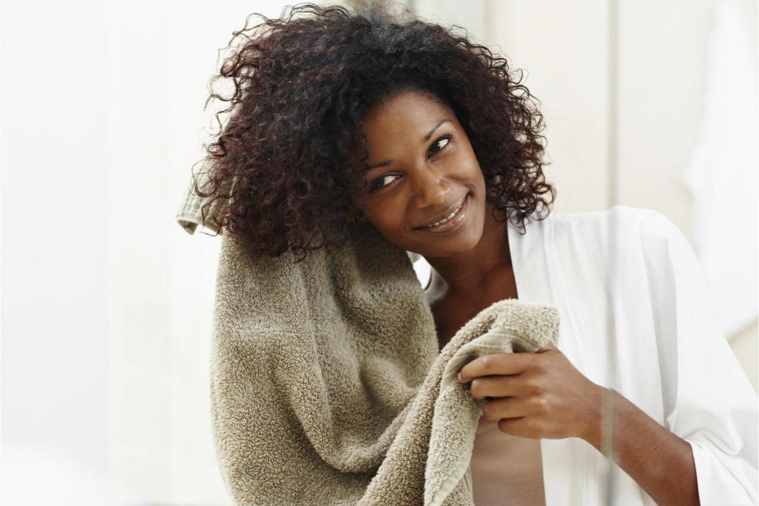 Drying Process for curly hair